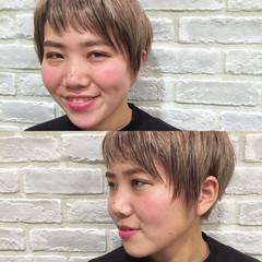 ハイライト モード グラデーションカラー ブラウン ヘアスタイルや髪型の写真・画像