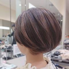 ショート インナーカラー ナチュラル ショートヘア ヘアスタイルや髪型の写真・画像