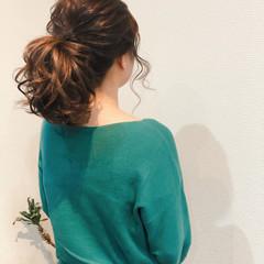 ミディアム ポニーテール ヘアアレンジ フェミニン ヘアスタイルや髪型の写真・画像