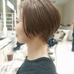 ナチュラル ショートボブ ショートヘア ミニボブ ヘアスタイルや髪型の写真・画像