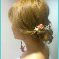 モテ髪 愛され 簡単ヘアアレンジ 結婚式 ヘアスタイルや髪型の写真・画像