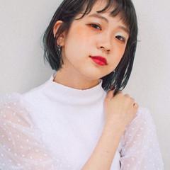 ガーリー ミニボブ 韓国ヘア 韓国 ヘアスタイルや髪型の写真・画像