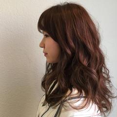 アッシュベージュ ロング ハイライト ヘアアレンジ ヘアスタイルや髪型の写真・画像