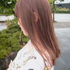 ミルクティーベージュ ロング ブラウンベージュ ナチュラル ヘアスタイルや髪型の写真・画像