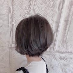 ナチュラル 大人ハイライト ショートヘア ショート ヘアスタイルや髪型の写真・画像