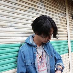 ストリート メンズ ミディアム パーマ ヘアスタイルや髪型の写真・画像
