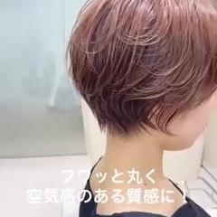 ショートボブ ショートヘア ベリーショート ナチュラル ヘアスタイルや髪型の写真・画像