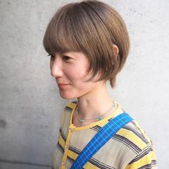 ショート デート マッシュウルフ ショートボブ ヘアスタイルや髪型の写真・画像