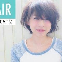 ショート 卵型 丸顔 春 ヘアスタイルや髪型の写真・画像
