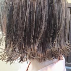 ワイドバング ボブ ピュア ガーリー ヘアスタイルや髪型の写真・画像