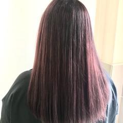 フェミニン トワイライトパープル パープルアッシュ ロング ヘアスタイルや髪型の写真・画像