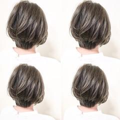 ショート ナチュラル ハイライト 外国人風 ヘアスタイルや髪型の写真・画像