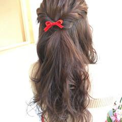 大人かわいい ヘアアレンジ ロング フェミニン ヘアスタイルや髪型の写真・画像