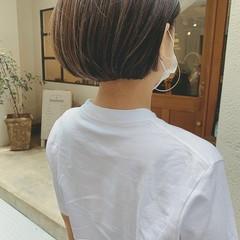 ナチュラル ミニボブ ボブ ハイライト ヘアスタイルや髪型の写真・画像