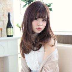 フェミニン ゆるふわ アッシュ ロング ヘアスタイルや髪型の写真・画像