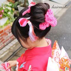 黒髪 和装 ミディアム ヘアアレンジ ヘアスタイルや髪型の写真・画像