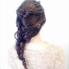 ヘアアレンジ 大人かわいい フェミニン アッシュ ヘアスタイルや髪型の写真・画像