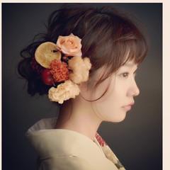 大人女子 ヘアアレンジ 冬 簡単ヘアアレンジ ヘアスタイルや髪型の写真・画像