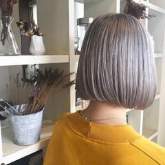 ボブ ホワイト ブリーチ ストリート ヘアスタイルや髪型の写真・画像