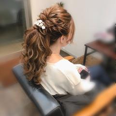 ヘアセット ブライダル フェミニン ロング ヘアスタイルや髪型の写真・画像
