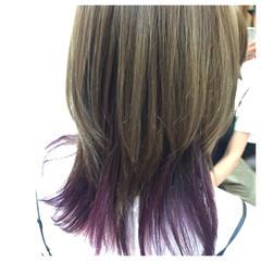 ストリート アッシュ グラデーションカラー ハイライト ヘアスタイルや髪型の写真・画像