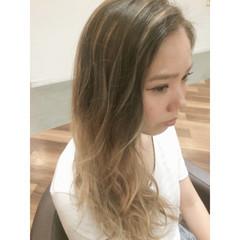 外国人風 渋谷系 ストリート ロング ヘアスタイルや髪型の写真・画像