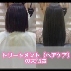 髪質改善 ミディアム うる艶カラー ナチュラル ヘアスタイルや髪型の写真・画像
