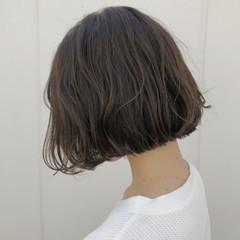 ボブ 外国人風カラー ショートボブ ウェーブ ヘアスタイルや髪型の写真・画像