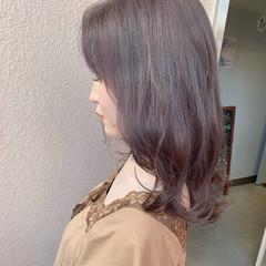 愛され フェミニン こなれ感 ラベンダーカラー ヘアスタイルや髪型の写真・画像