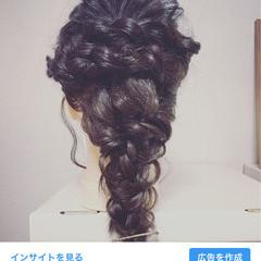 結婚式 簡単ヘアアレンジ ヘアアレンジ エレガント ヘアスタイルや髪型の写真・画像