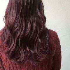 ラベンダーピンク ガーリー ピンクブラウン ベリーピンク ヘアスタイルや髪型の写真・画像