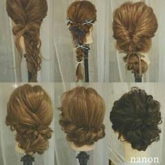 三つ編み 涼しげ ヘアアレンジ 夏 ヘアスタイルや髪型の写真・画像