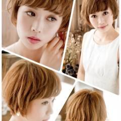 大人かわいい イエロー モテ髪 オレンジ ヘアスタイルや髪型の写真・画像