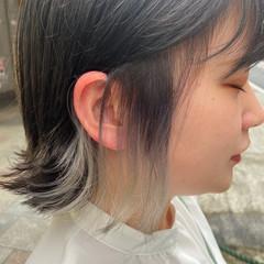 ホワイトブリーチ ブリーチカラー ボブ ナチュラル ヘアスタイルや髪型の写真・画像