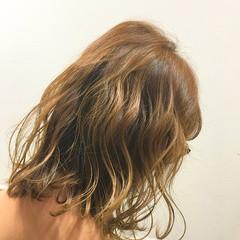 ハイライト ストリート ハーフアップ アッシュ ヘアスタイルや髪型の写真・画像