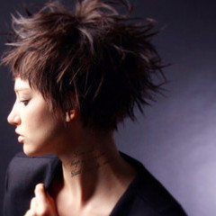黒髪 かっこいい モード 前髪あり ヘアスタイルや髪型の写真・画像