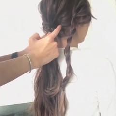 オフィス ヘアアレンジ パーティ フェミニン ヘアスタイルや髪型の写真・画像