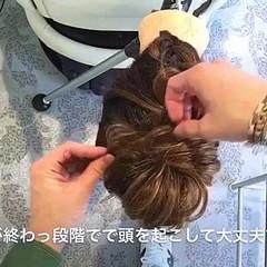 デート ヘアアレンジ 編み込み セミロング ヘアスタイルや髪型の写真・画像
