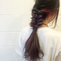 簡単ヘアアレンジ 外国人風 ストリート 夏 ヘアスタイルや髪型の写真・画像