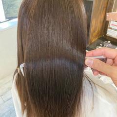 ロング ナチュラル 透明感カラー 髪質改善 ヘアスタイルや髪型の写真・画像
