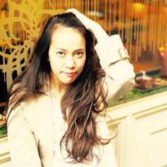 モード 暗髪 大人かわいい ロング ヘアスタイルや髪型の写真・画像