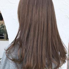 外国人風 女子力 アウトドア セミロング ヘアスタイルや髪型の写真・画像