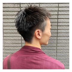 メンズショート ナチュラル メンズカット ショート ヘアスタイルや髪型の写真・画像