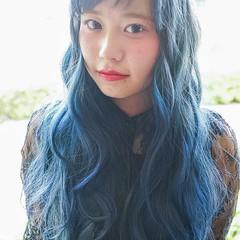 外国人風 ロング アッシュ ピュア ヘアスタイルや髪型の写真・画像