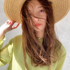 ロング インナーカラー ナチュラル ハイトーンカラー ヘアスタイルや髪型の写真・画像