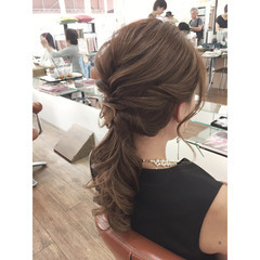 ハーフアップ ロング 大人かわいい 簡単ヘアアレンジ ヘアスタイルや髪型の写真・画像