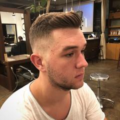 メンズカット ショート ショートヘア フェードカット ヘアスタイルや髪型の写真・画像