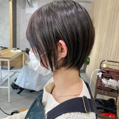 ナチュラル ショートボブ ミニボブ ショートヘア ヘアスタイルや髪型の写真・画像