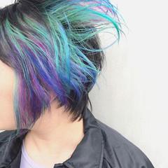 ショートヘア インナーカラー ショート ウルフカット ヘアスタイルや髪型の写真・画像