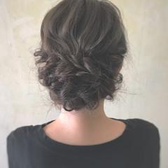 セミロング ヘアアレンジ 二次会ヘア 結婚式 ヘアスタイルや髪型の写真・画像